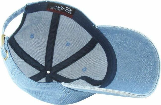 KBETHOS ADJUSTABLE SOLID CAPS Denim Hats