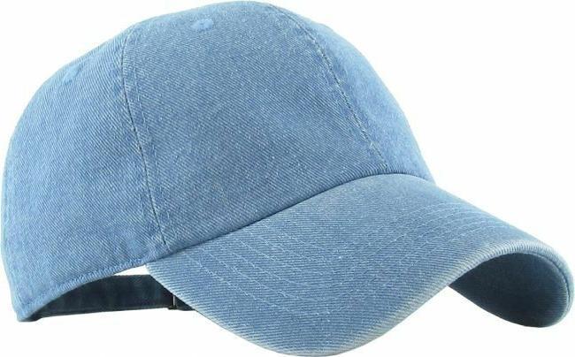KBETHOS CROWN SOLID BASEBALL CAPS Denim Hats Cotton Colors