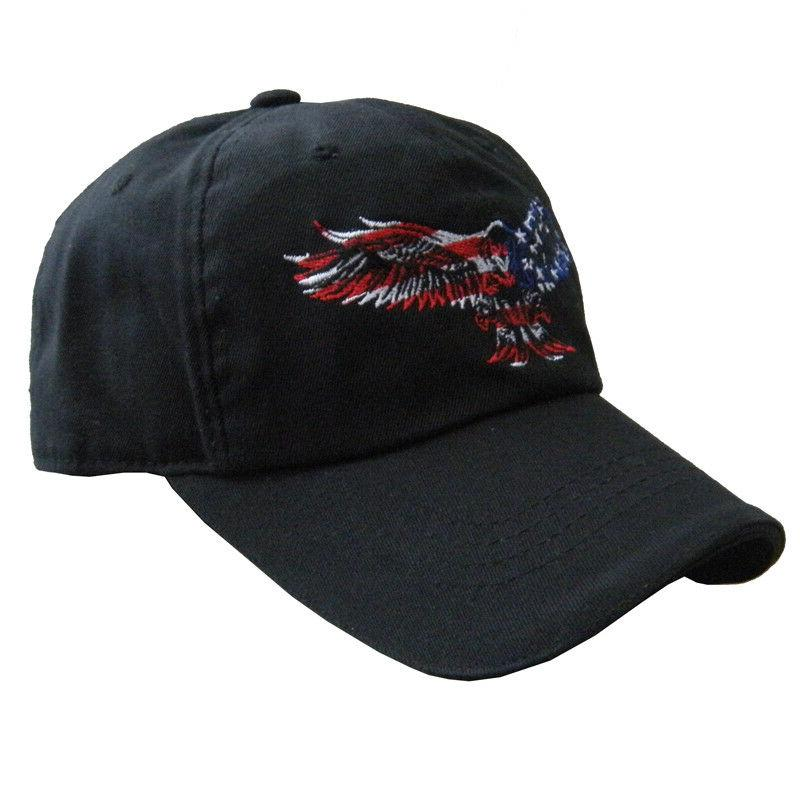 american usa patriotic flag eagle dad caps
