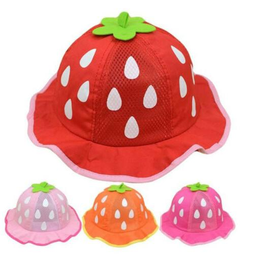 Baby Baseball Hat Mesh Shaped Strawberry Boys