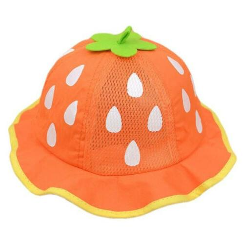 Baby Hat Mesh Sunhat Caps Cap Shaped Strawberry Boys