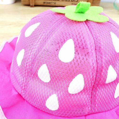 Baby Baseball Hat Sunhat Shaped Strawberry Boys Girls