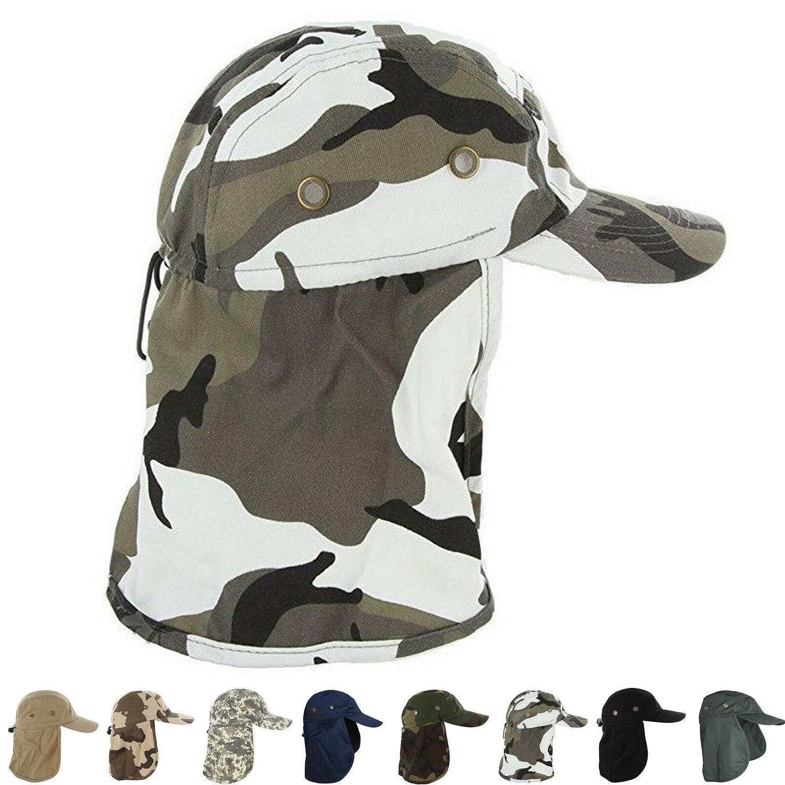 Baseball Cap Camping Boonie Fishing Ear Flap Sun Neck Cover