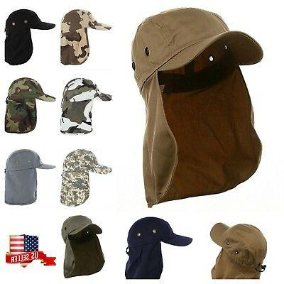 Baseball Cap Camping Hiking Fishing Ear Flap Sun Neck Cover