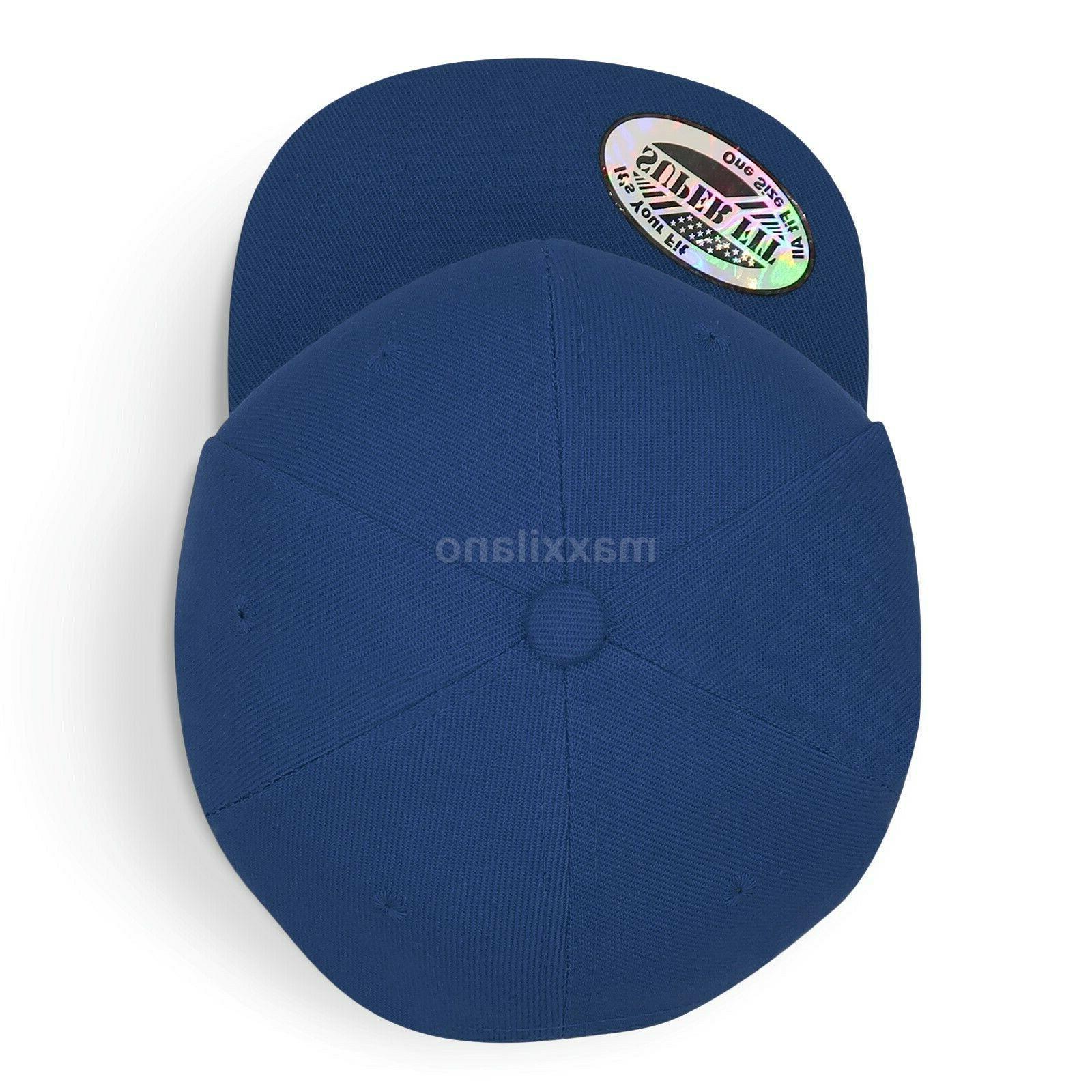 Baseball for Plain Solid Snapback Hats Adjustable