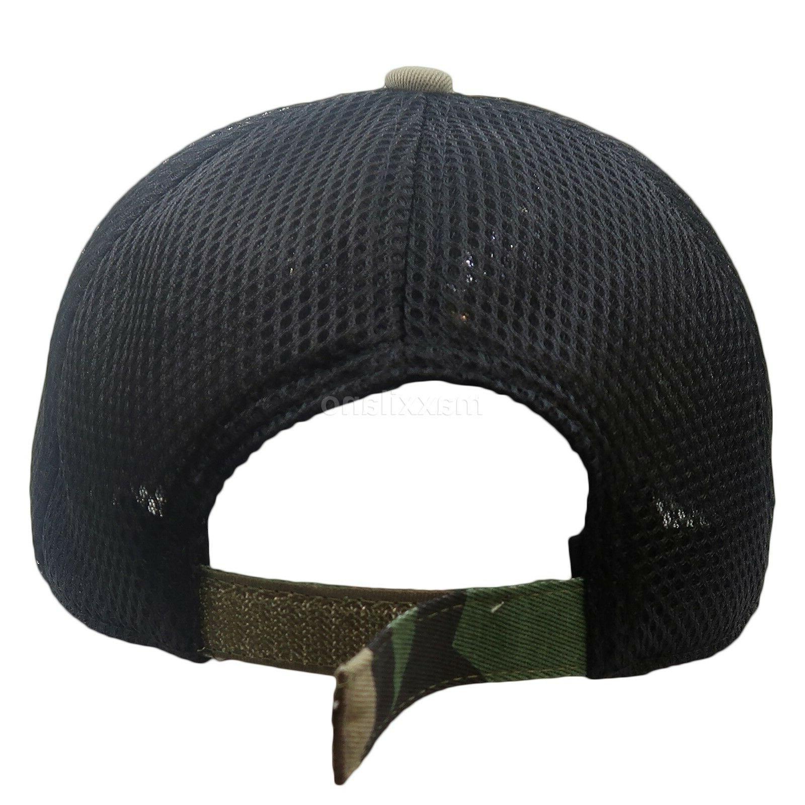 Baseball Cap Army Cotton Hat Mesh