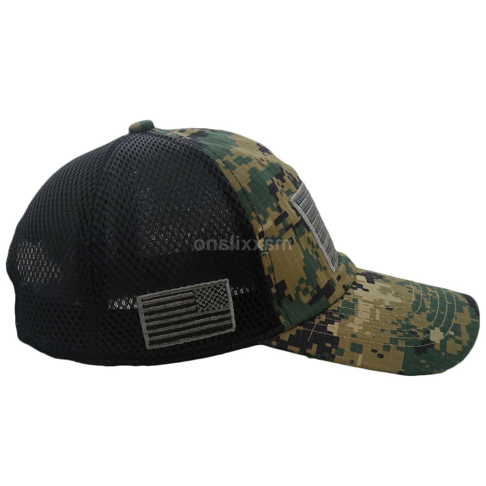 Baseball Cap Mens Army Dad Hat USA Mesh