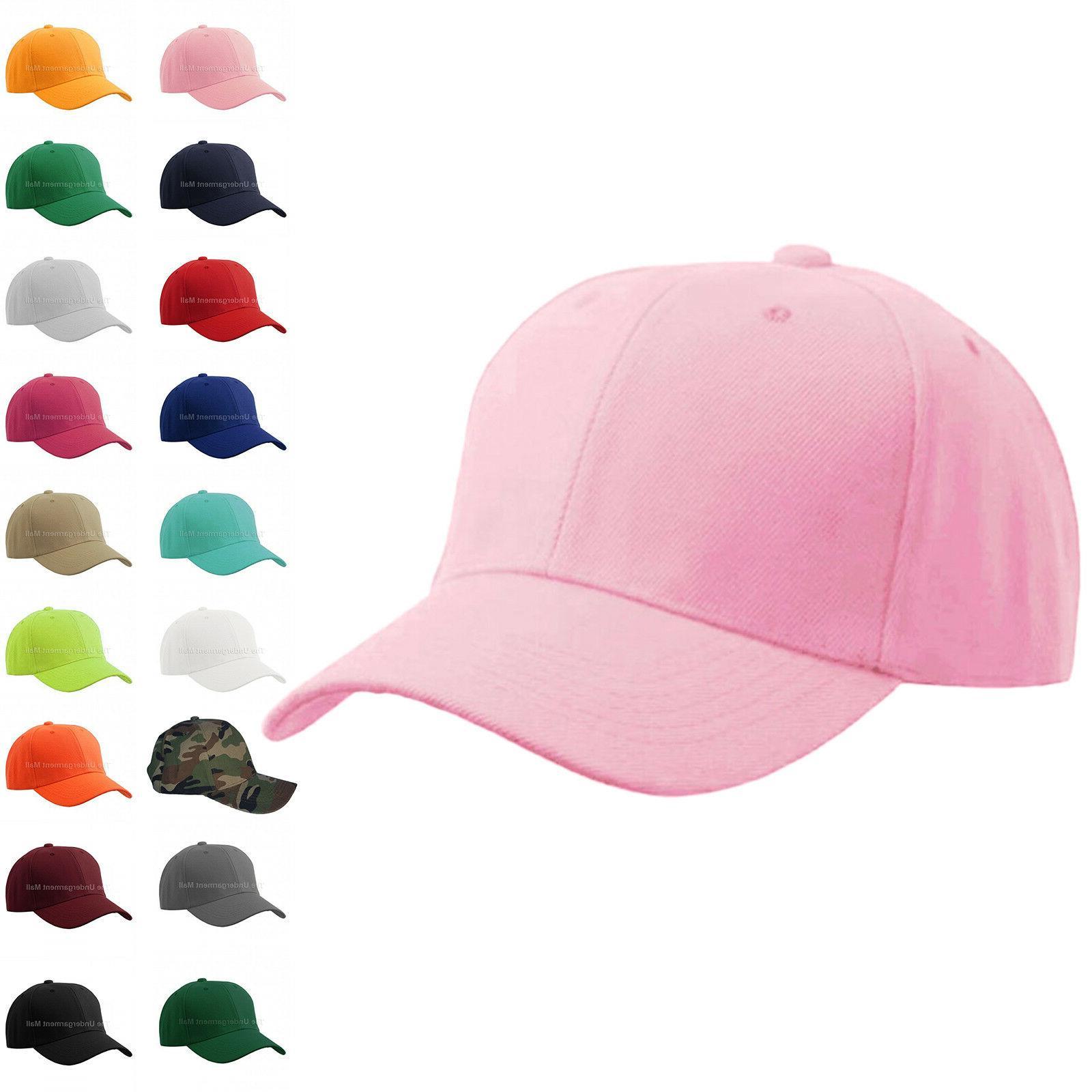 baseball cap plain kids girls strapback solid