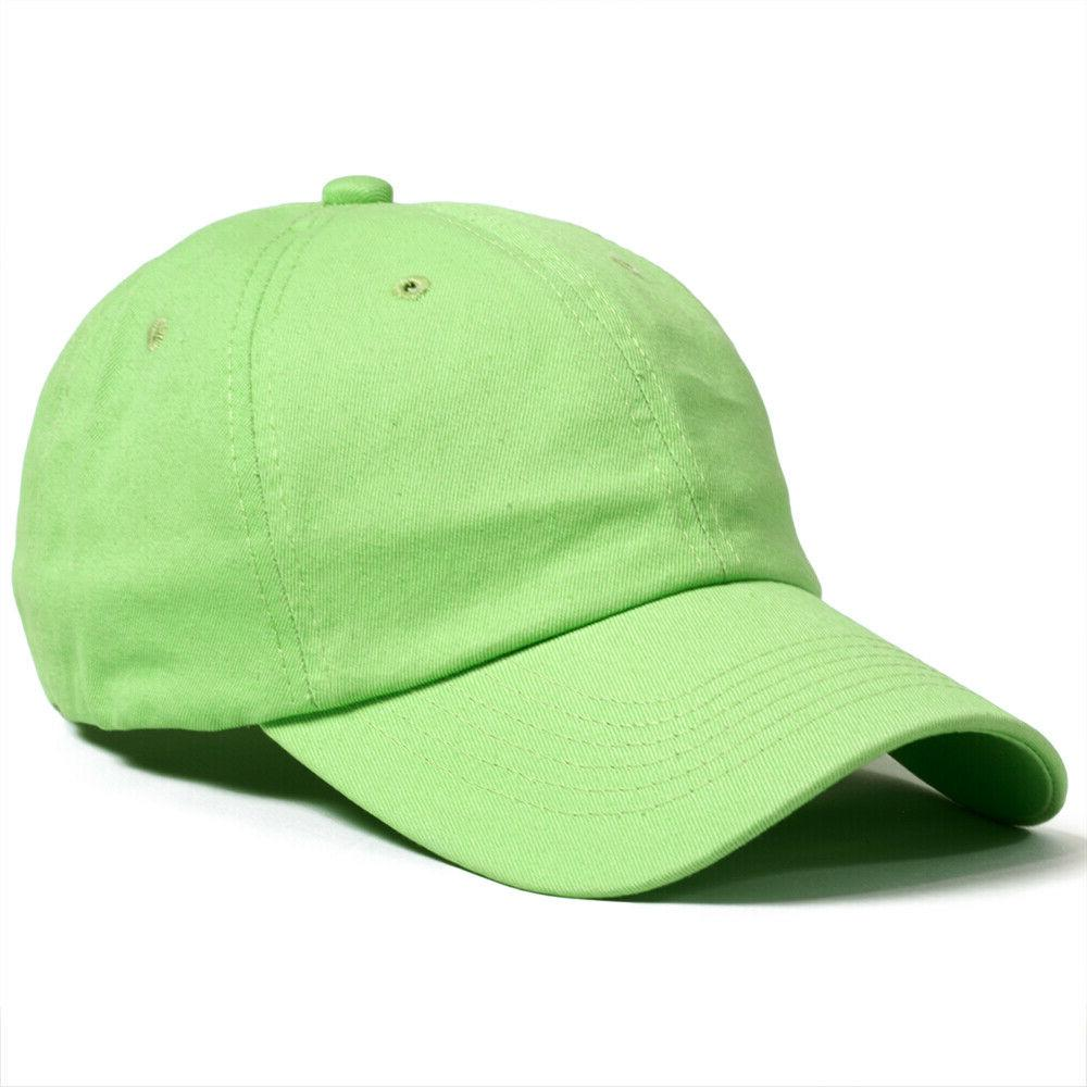 Baseball Cap Washed Solid Polo Style