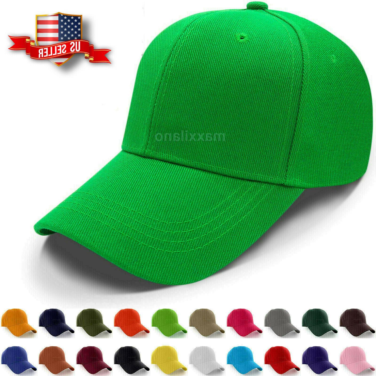 baseball caps plain loop adjustable solid color