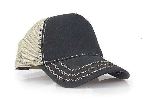 baseball trucker distressed vintage denim mesh adjustable