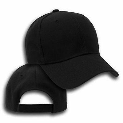big size black adjustable baseball cap 2xl