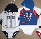 NIKE Boy Bodysuit & Hat Set 9-12 Month Baby Baseball  Basket
