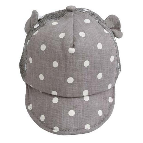 1pc Toddler Baby Baseball Boy Girl Summer Dots Cap W