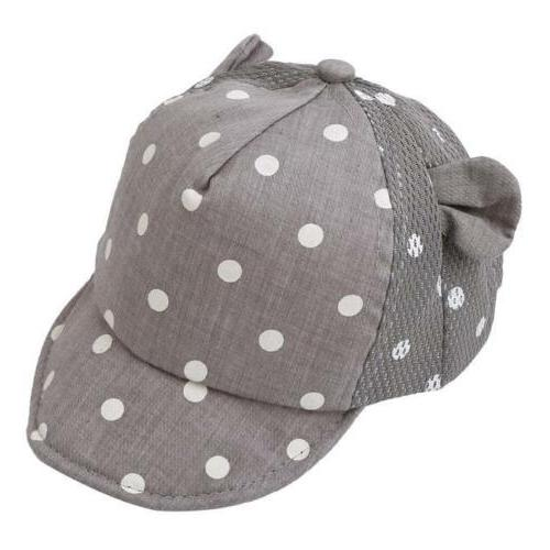 1pc Toddler Baseball Cap Infant Girl Dots