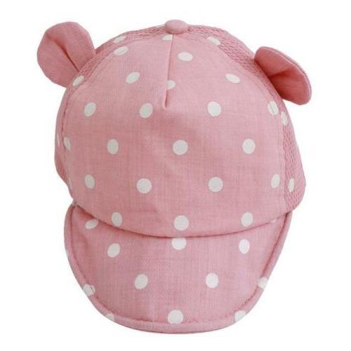 Toddler Kids Baby Girls Dots Peaked Hat Ear Cap Beret