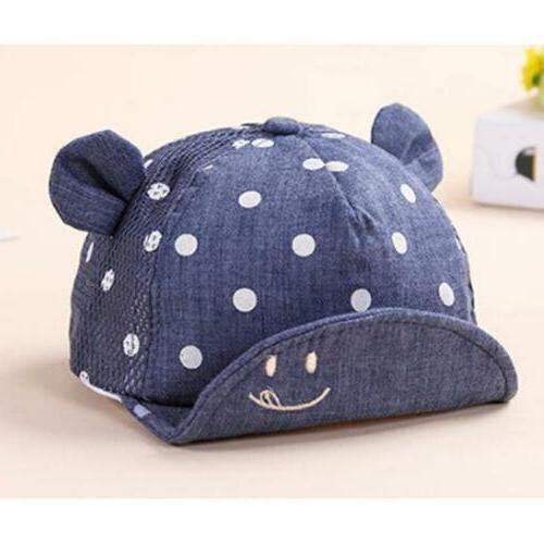 1pc Baby Baseball Cap Girl Dots Cap