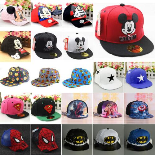 Boys Girls Kids Baby Baseball Cap Cartoon Adjustable Toddler