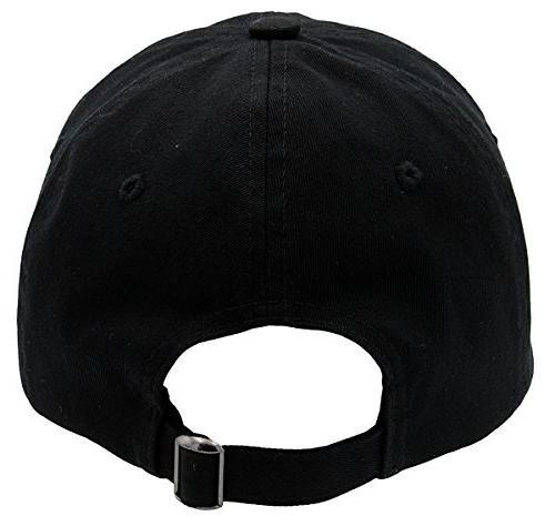 BRAND Plain Unisex Cotton Hat For & Unstructured For Low Unique Accessories Black, Size