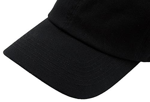 BRAND Classic Plain Baseball Unisex Cotton For & Adjustable & Unstructured For Max Comfort Low Profile Polo Style Unique & Timeless Black,