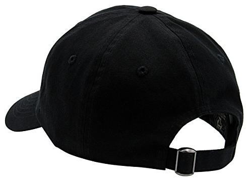 BRAND NEW 2016 Classic Plain Cotton For & Women Adjustable Unstructured Max Low Profile Unique Accessories By Top Black, One Size