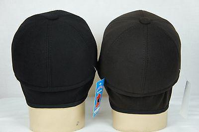 BROWN BLACK Cashmere like BASEBALL TRUCKER EARFLAP CAP NWT