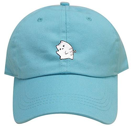 c104 cute cat cotton baseball dad cap