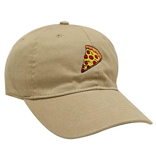 c104 pepperoni pizza cotton baseball dad caps
