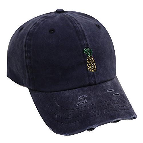 c104 pineapple cotton baseball cap multi colors