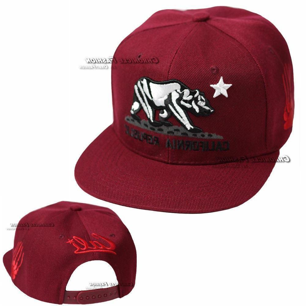 California Republic Hat Baseball Cap Cali Bear Snapback Adjustable