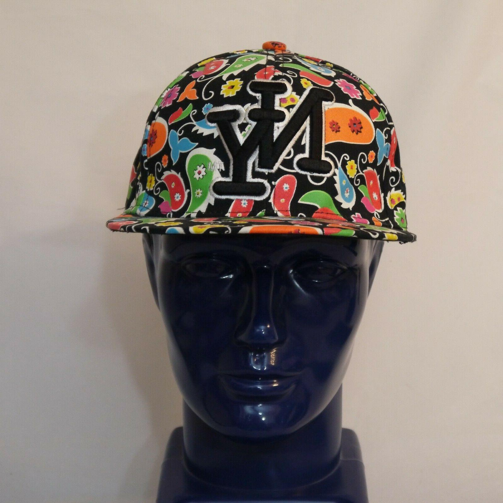 cap baseball cap 2xl multicolor paisley hat