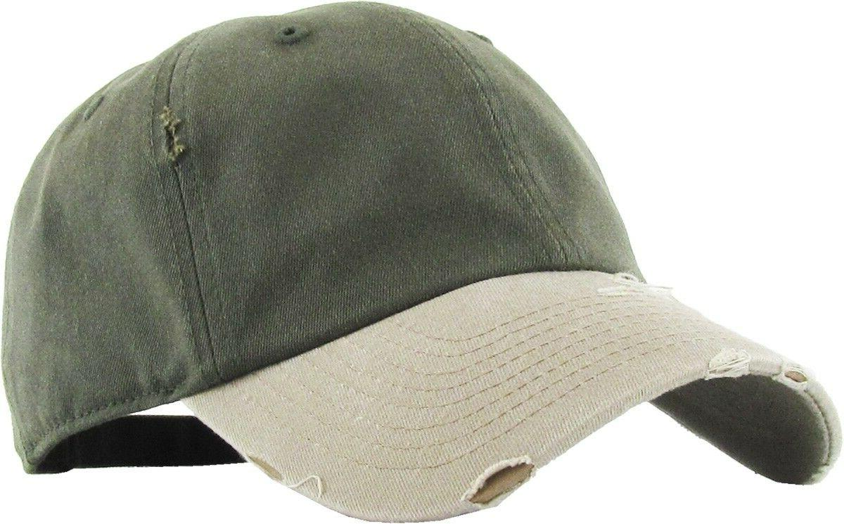 KBETHOS CLASSIC DISTRESSED Adjustable Cap Cotton Washed