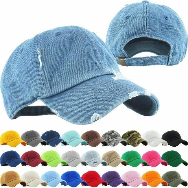classic distressed premium adjustable baseball cap hat