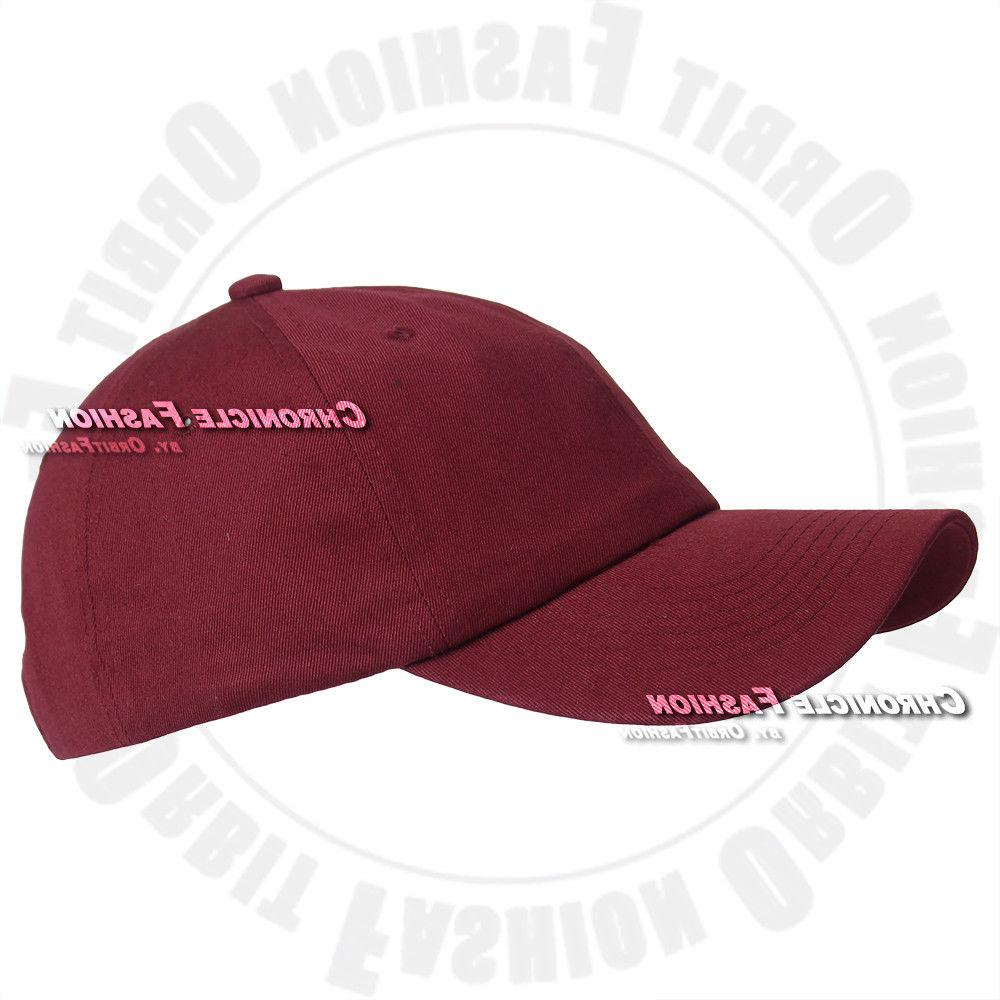 Baseball Polo Style Adjustable Solid Hats