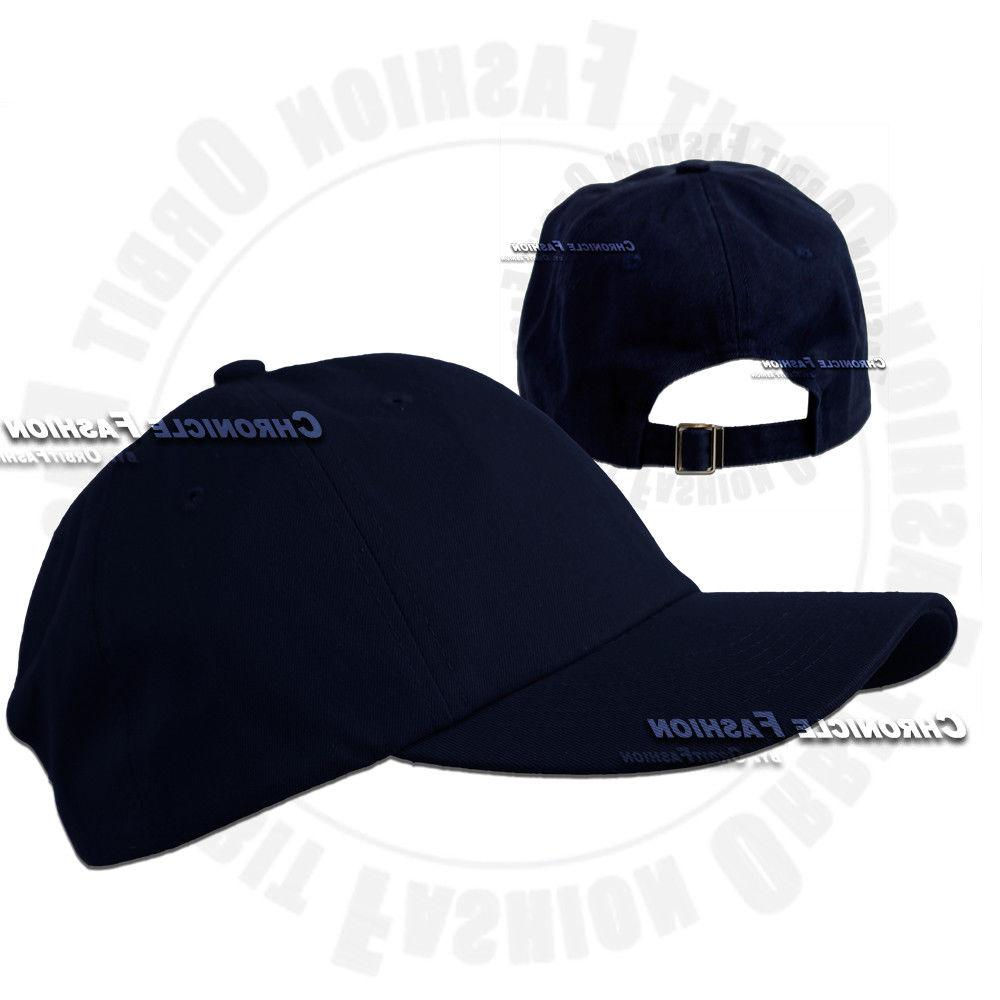 Baseball Polo Style Adjustable Plain Solid Hats