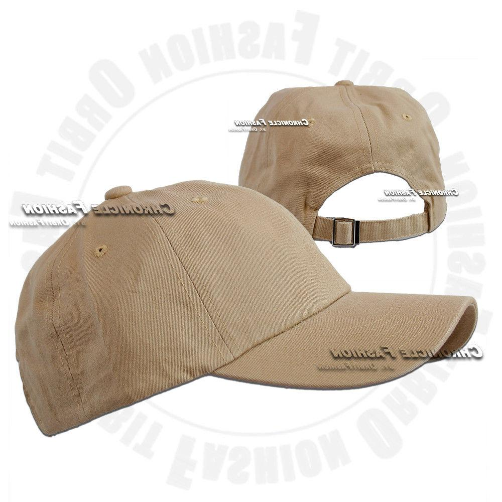 Baseball Cap Washed Polo Style Solid Dad Hat