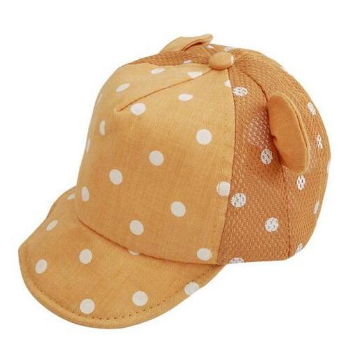 1pc Baby Baseball Cap Boy Girl Cotton Dots Cap