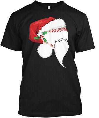 Cute Baseball Santa Hat Christmas T Shir Hanes Tagless Tee T