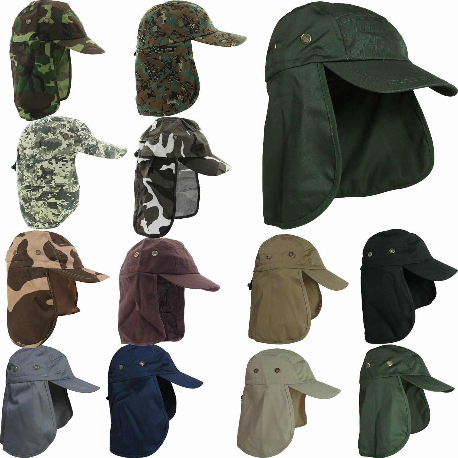 Ear Flap Neck Cover Sun Hat Baseball Camo Military Cap Fishi