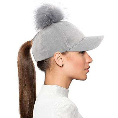 high bun ponytail baseball hat slouchy beanie