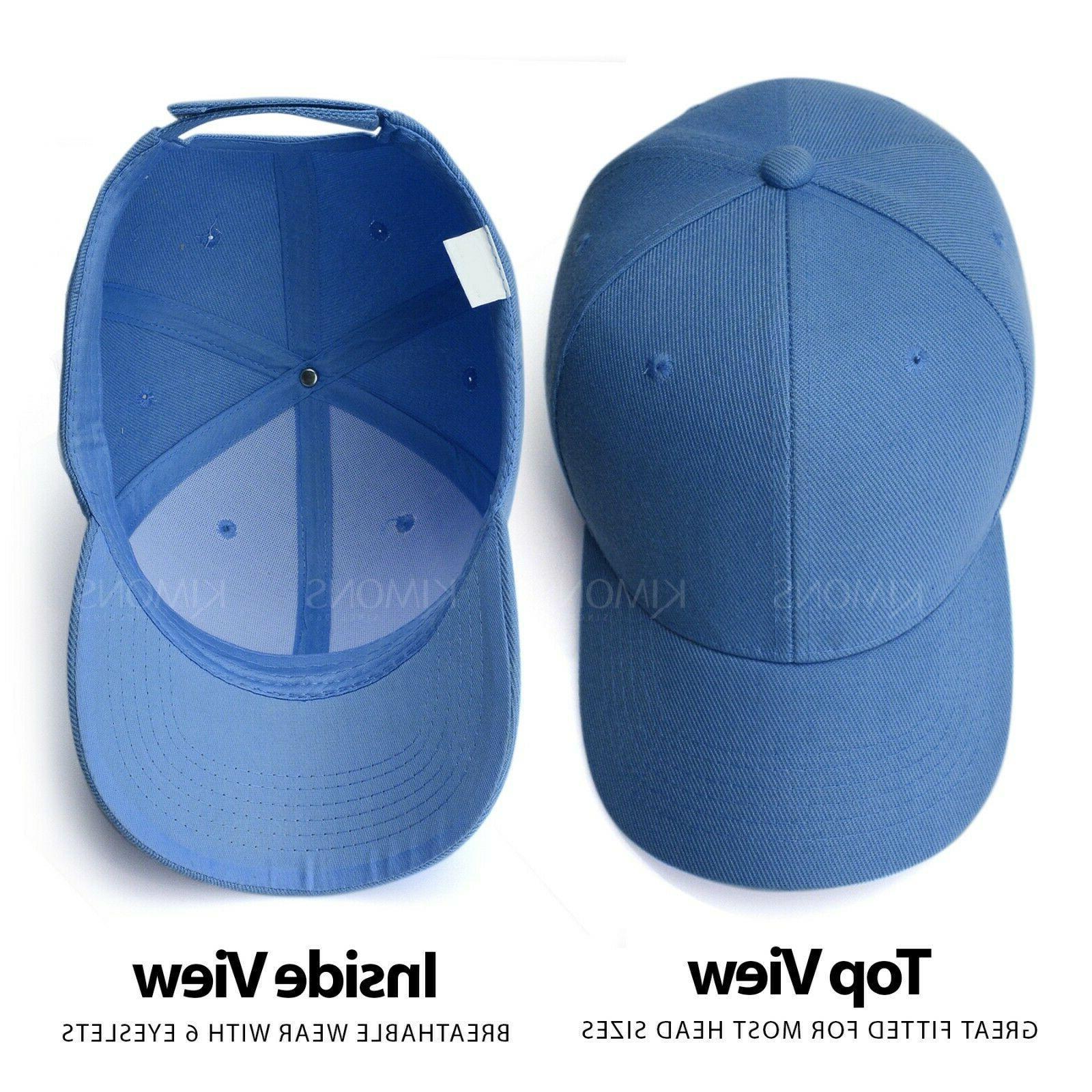 Plain Solid Baseball Cap Trucker Blank Hat Ball Adjustable