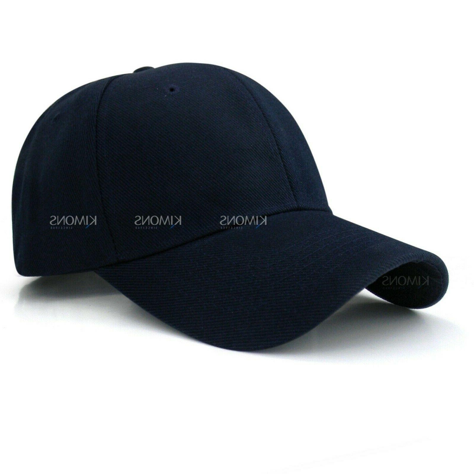 Hook-N-Loop Plain Baseball Solid Blank Hat Ball