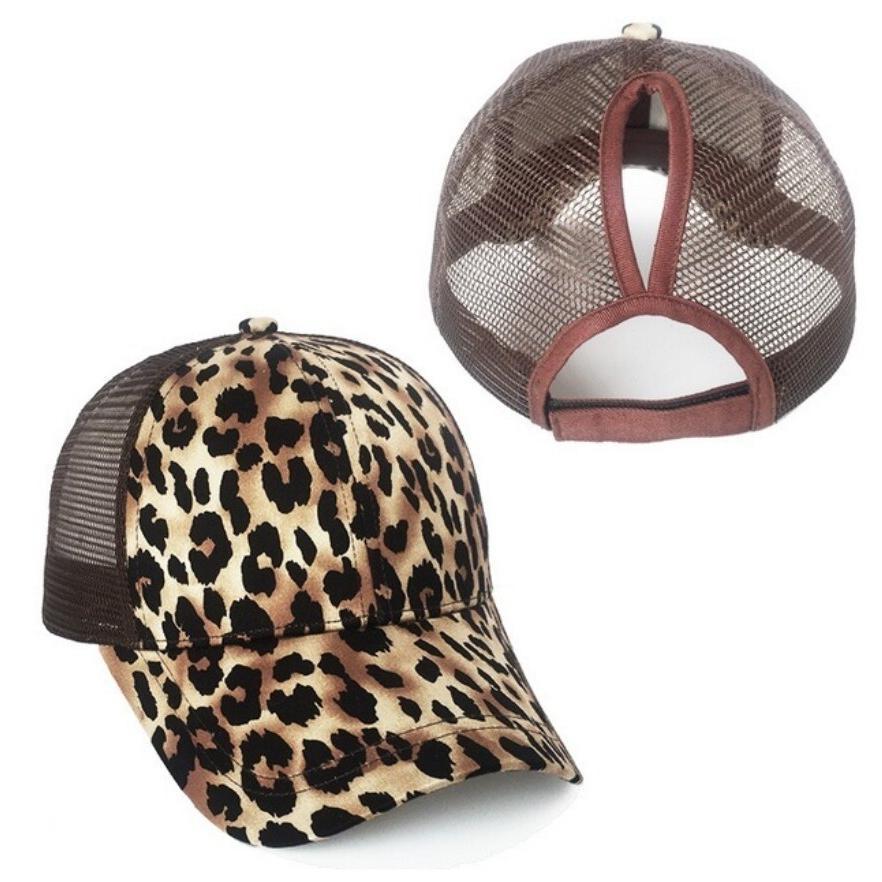 HOT Summer Unisex Leopard Tiger Skin Print Vaulted Peaked Hop