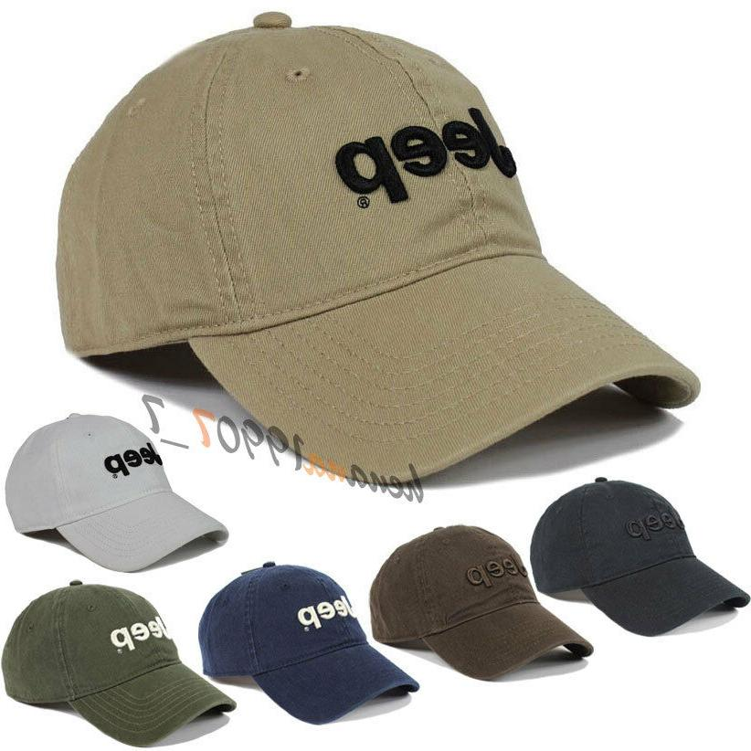 Jeep Men Women's Hat Baseball Cap Golf Casual Sun Hat Outdoo