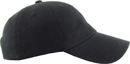 KB-LOW BLK Dad Adjustable Plain Cap. Profile
