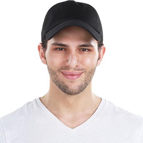 KB-LOW BLK Classic Cotton Dad Hat Cap. Style Low Profile Black