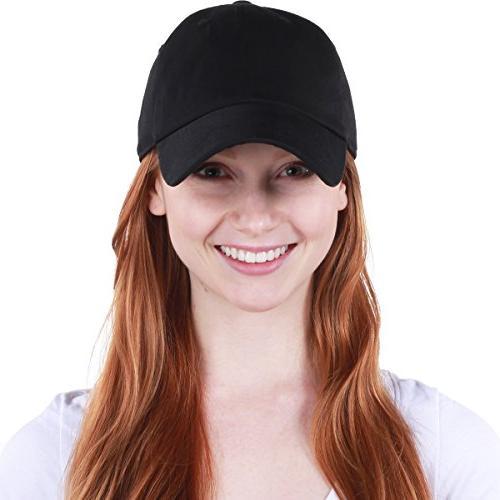 KB-LOW Dad Hat Cap. Polo Style Profile Black Adjustable