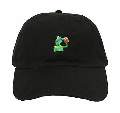 kermit frog adjustable strapback cap