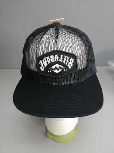 BILLABONG Logo Meshin Around Black Snapback Trucker Baseball