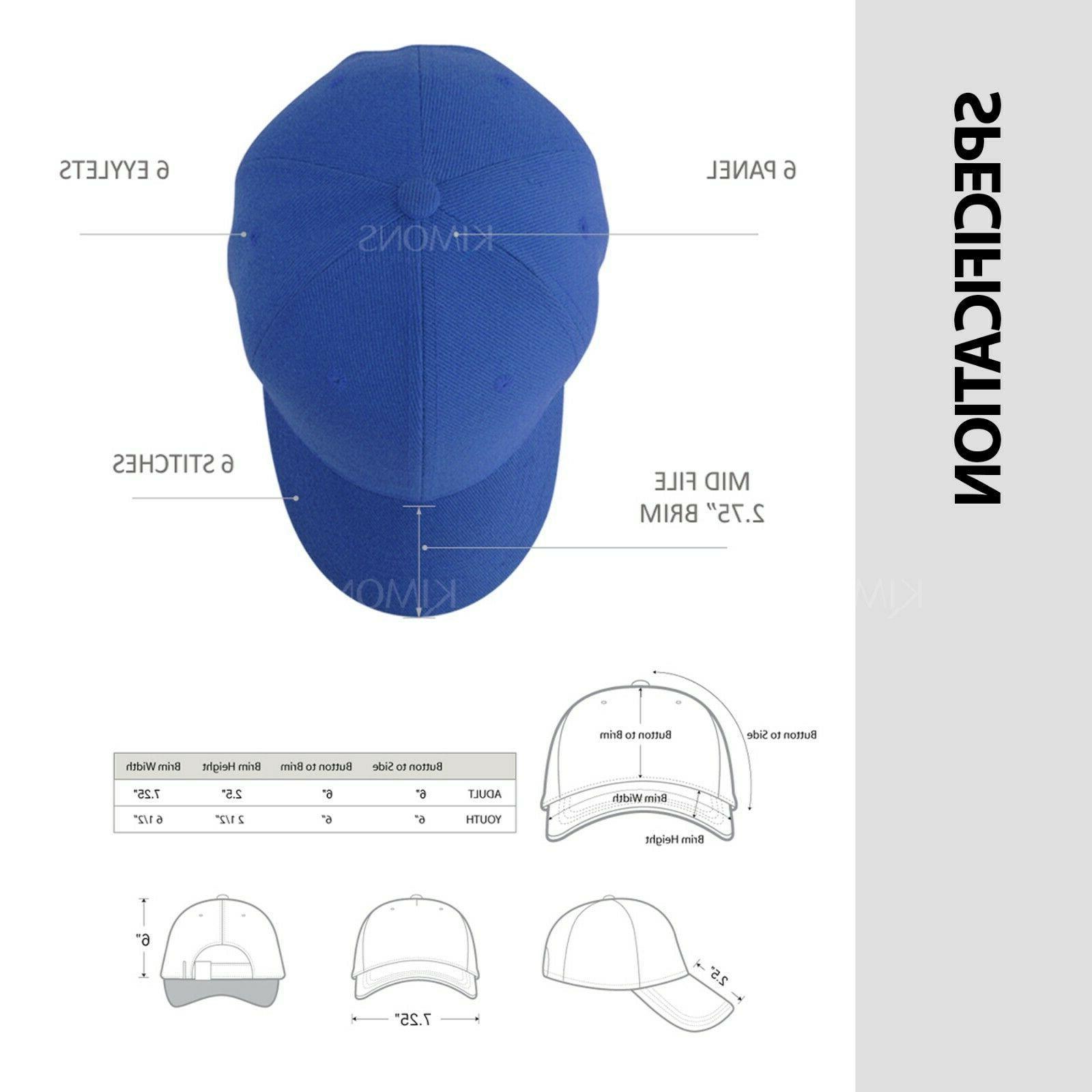 Plain Solid Trucker Hat Men Women Adjustable